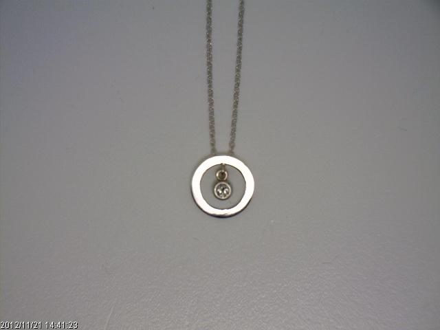 White gold pendants jayandee servicesjayandee services 6008 18 white gold cable chain with 716516 washer pendant 007ct aloadofball Images